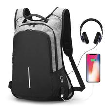 Men Travel Backpacks Teenager Students USB Chargeable Laptop Backpack Men Password Lock Anti-theft Backpack Computer School Bags
