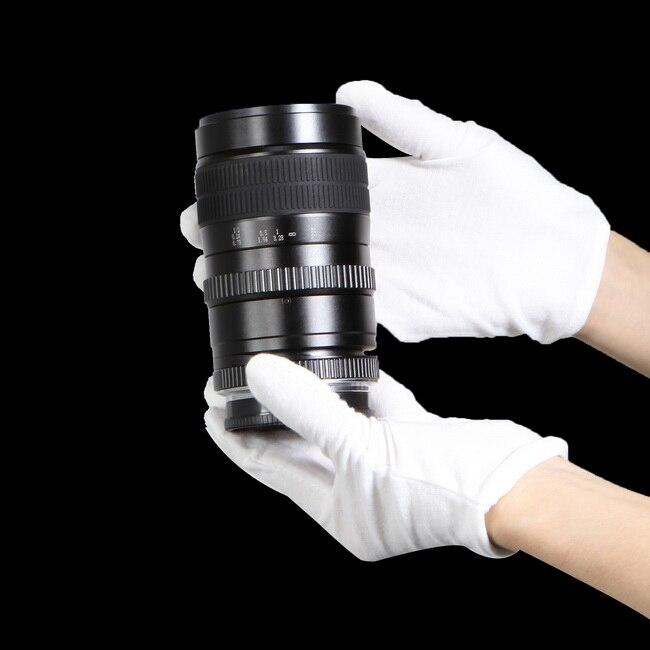 1 par Blanco Guantes Anti-huella digital para el Shooting Del Producto Fotográfi