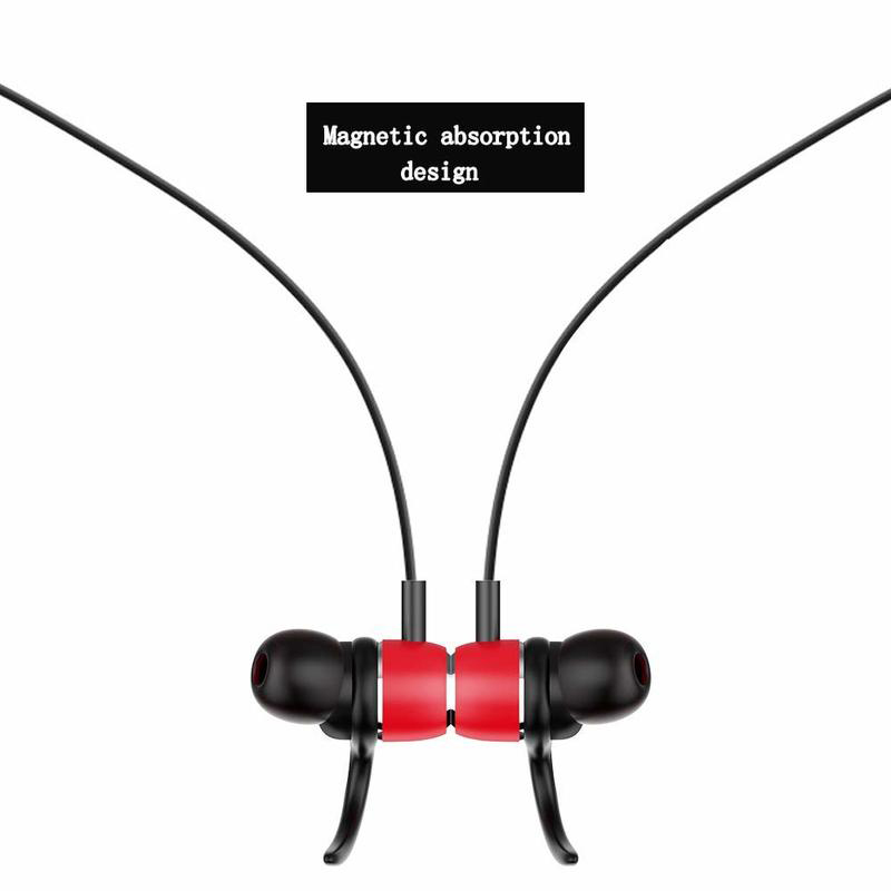 Neckband Earphones Headset With Mic Bluetooth 5 0 Earphone Wireless Headphones Sports Stereo Bass In Ear Earbuds For Phone in Bluetooth Earphones Headphones from Consumer Electronics