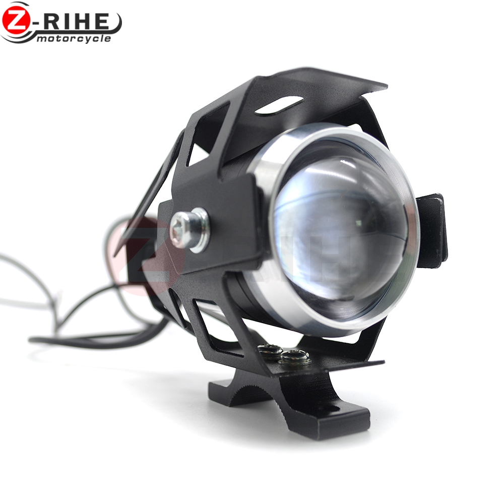 Light/Soft Light/Cool Flash Light U5 Motorcycle led Driving fog lamp with lens Headlight offroad
