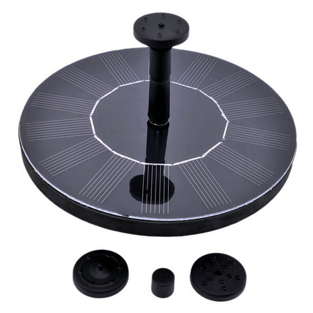1 Set Solar Water Pump 7V Floating WaterpUmp Panel Garden Plant Watering Power Fountain Pool Automatical for Fountains Waterfall
