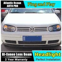 AUTO PRO For Vw Golf 4 98 05 Headlights Angel Eyes Light Xenon Lens LED Car