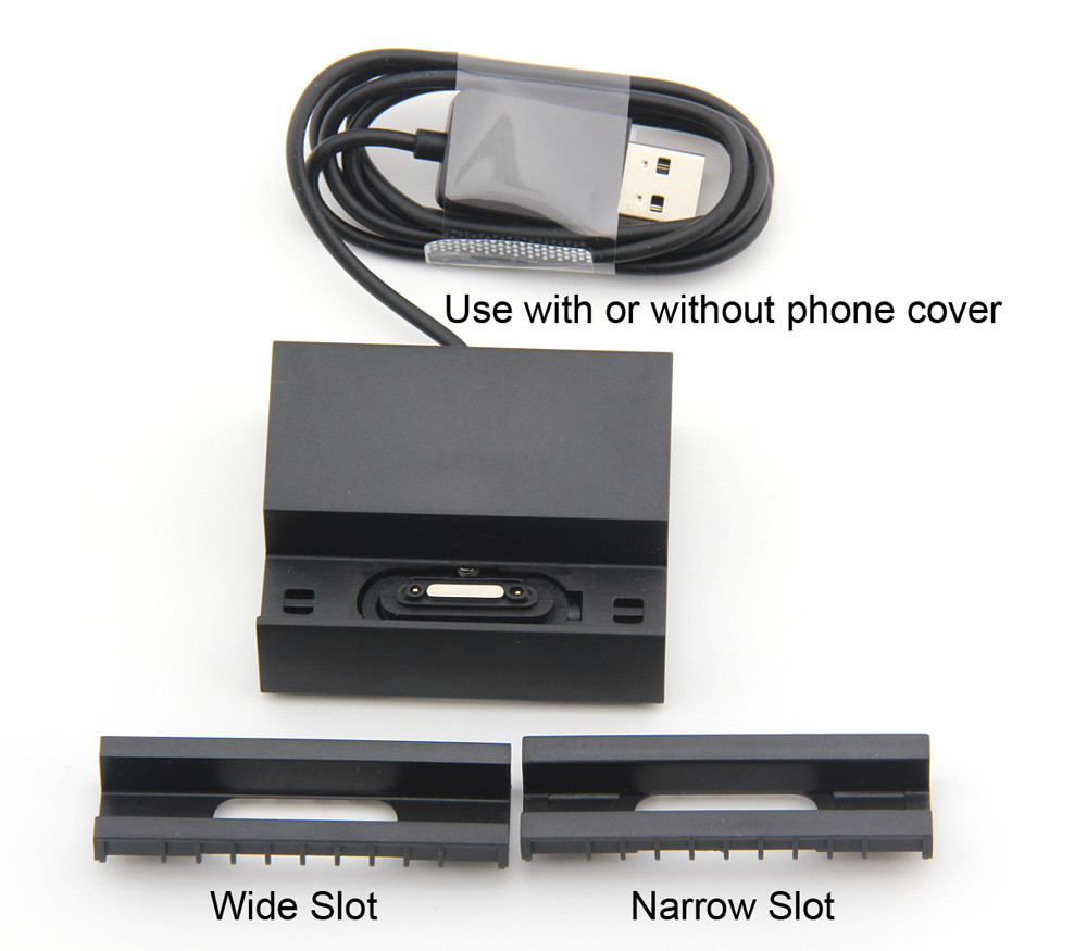 Dk32 Magnétique Chargeur Pour Sony Xperia Z1 Compact Mini M51W D5503 Station D'accueil de Bureau Noir Avec 2 pcs Adaptateurs