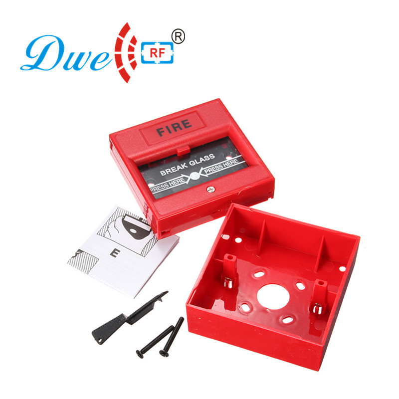 Free shipping 12V emergency breakglass fire alarm manual call point door release exit push button switch emergency release exit button exit switch glass broken fire emergency exit button door release button for fire access control