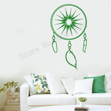 Wall Sticker Vinyl Art Removeable Room Decoration Modern Bedroom Livingroom Dreamcatcher Mural Beauty Feather Decal LY604
