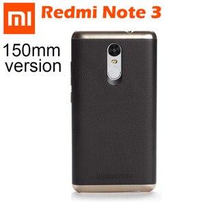 Image 1 - 100% Original Xiaomi Redmi Nota 3 Pro Caso de Couro PU de Metal Xiaomi Redmi Nota 3 Tampa Caixa Do Telefone Para Xiomi redmi Note3 150mm