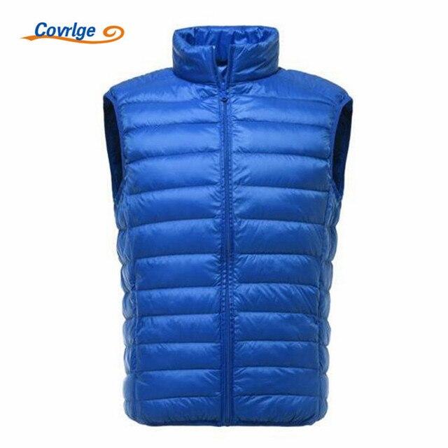 Covrlge 2018 New Winter Men 90% White Duck Down Vest Portable Ultra Light Sleeveless Jacket Portable Waistcoat for Men MWY005