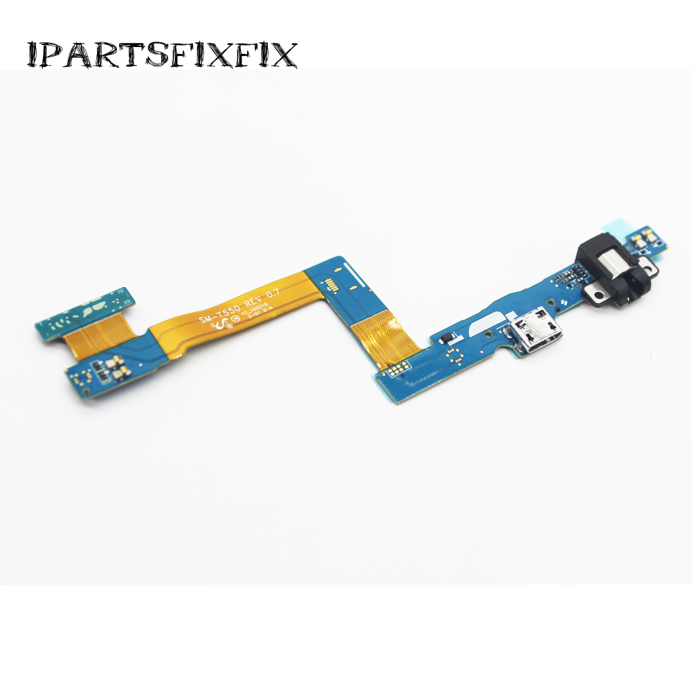 30pcs/lot New USB Dock Charging Port Connector Charger Flex Cable Rear Back Ribbon Tail Plug For Samsung T550 T555 P550 <font><b>P555</b></font> image