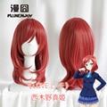 IMCOSER НОВЫЙ! высокое качество Бесплатная Доставка LoveLive! маки Nishikino Синтетический Парик Волос Короткие Красный Аниме Парики