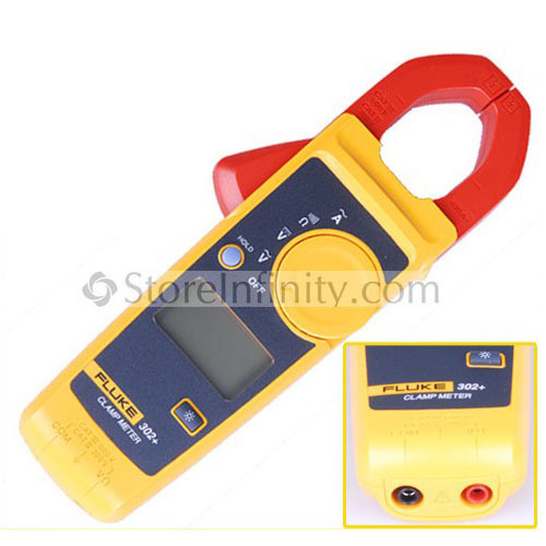 Free Shipping Fluke 302+ Digital Clamp Meter AC/DC Multimeter Tester Fast shipping hansa мягкая игрушка волнистый попугайчик голубой hansa