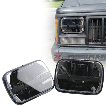 """Suqare 5x7Inch LED 60W Black Truck Headlights Lighting For Jeep Cherokee 6x7"""" Square Truck Head Lamps Replacement"""