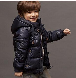 20141025 ropa infantil de Invierno, los niños abajo de la chaqueta y abrigos, niños de Alta calidad capa caliente, for2-10y envío gratis