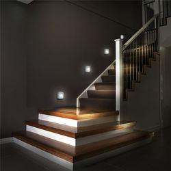 Coquimbo led sensor de luz da noite dupla indução pir infravermelho sensor de movimento lâmpada de parede infravermelho magnético armário escadas luz