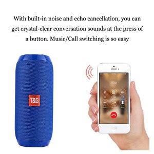 Image 3 - TG117 беспроводной Bluetooth портативный динамик стерео сабвуфер Колонка громкоговоритель + TF Встроенный микрофон бас FM MP3 звуковая бум коробка