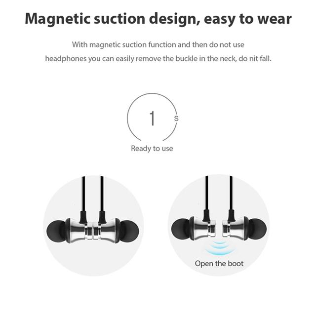 Magnetic Bluetooth Earphone Wireless Headphone Sport Running Wireless Bluetooth Headset with Mic Bluetooth headphone
