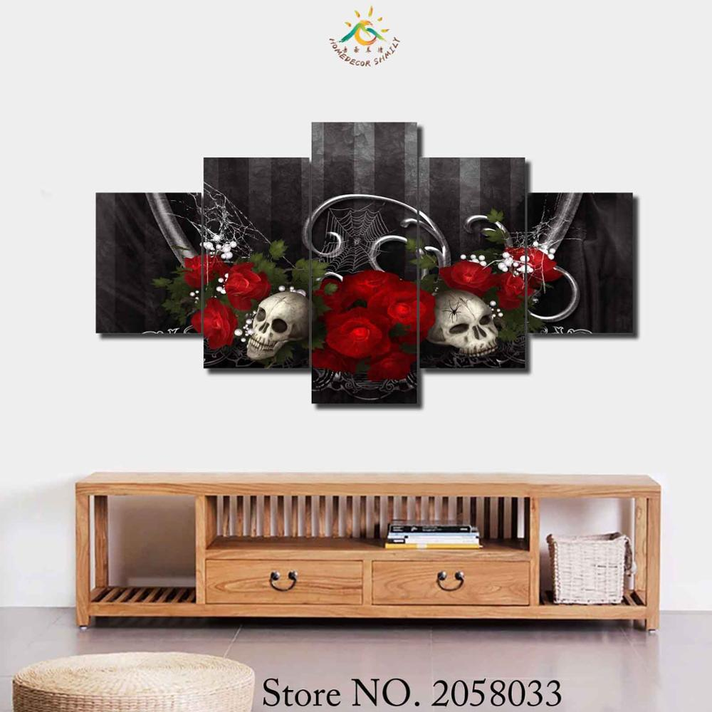 Online Buy Wholesale Skull Wallpaper Home Decor From China Skull