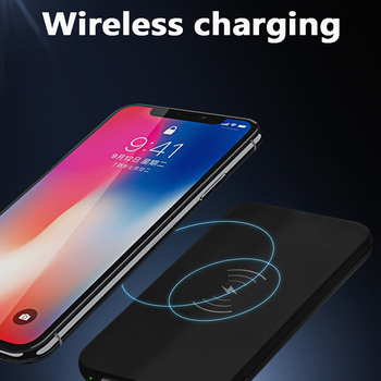 NEW QI Wireless Power Bank 10000mAh Ultra-thin Charger Polymer Smartphone Wireless Charger for iPhone 8 8Puls Samsung S8 S9 smartphone