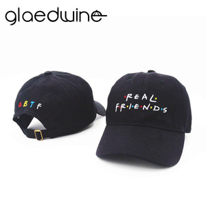 Glaedwine Real Friend Embroidery Baseball Caps Women Winter Hat for men Dad Hat Fishing Hockey Golf Snapback Hip Hop Casquette