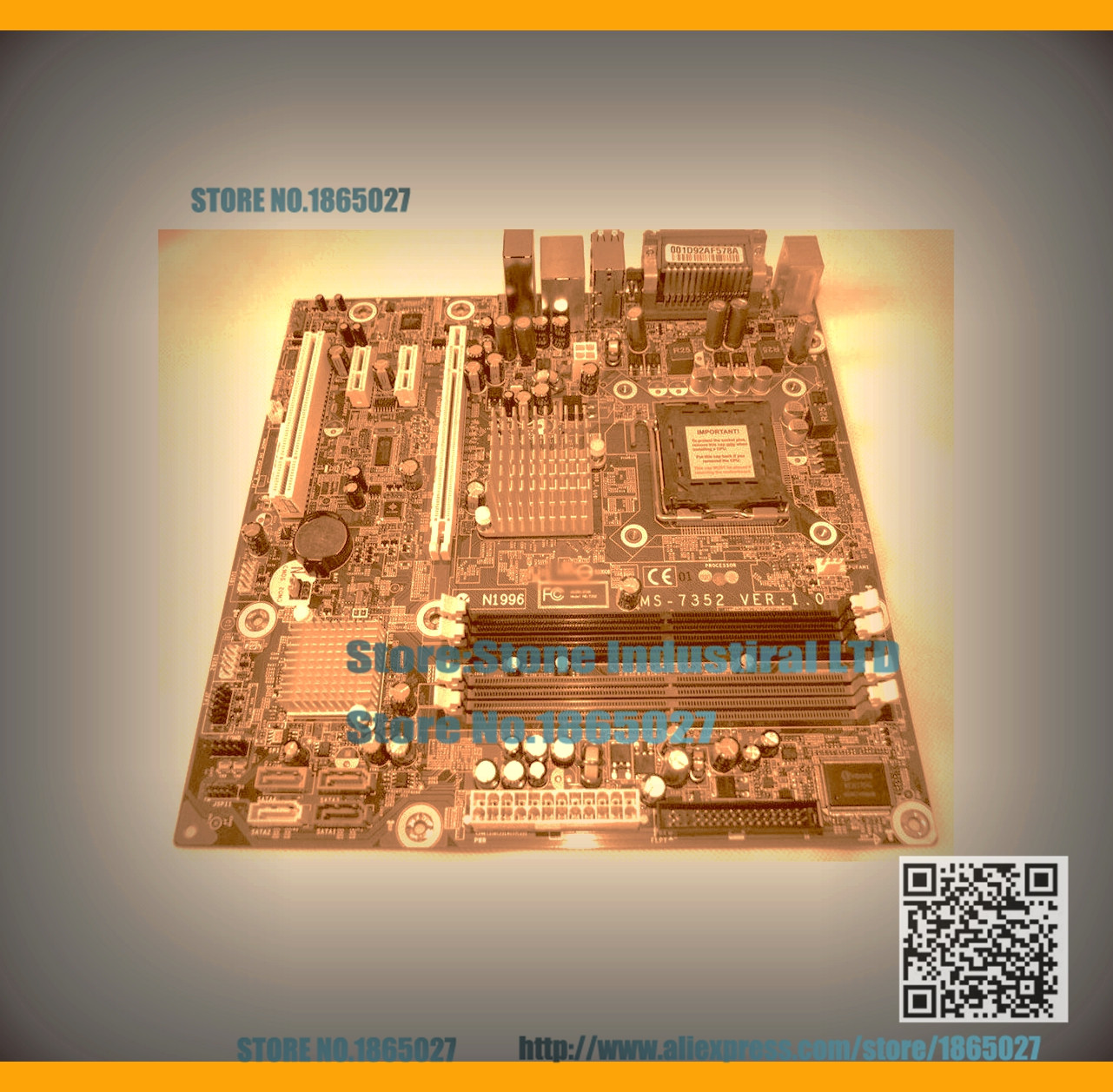 ФОТО dx7400 dx7408 MS-7352 G33 Desktop Motherboard 480909-001 447400-003 100% Tested Good Quality