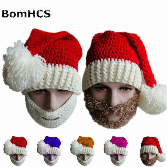d1bc99d95ee BomHCS Winter Warm Crochet Beanie Cap 100% Handmade Knit Skull Christmas Hat  Christmas Gift