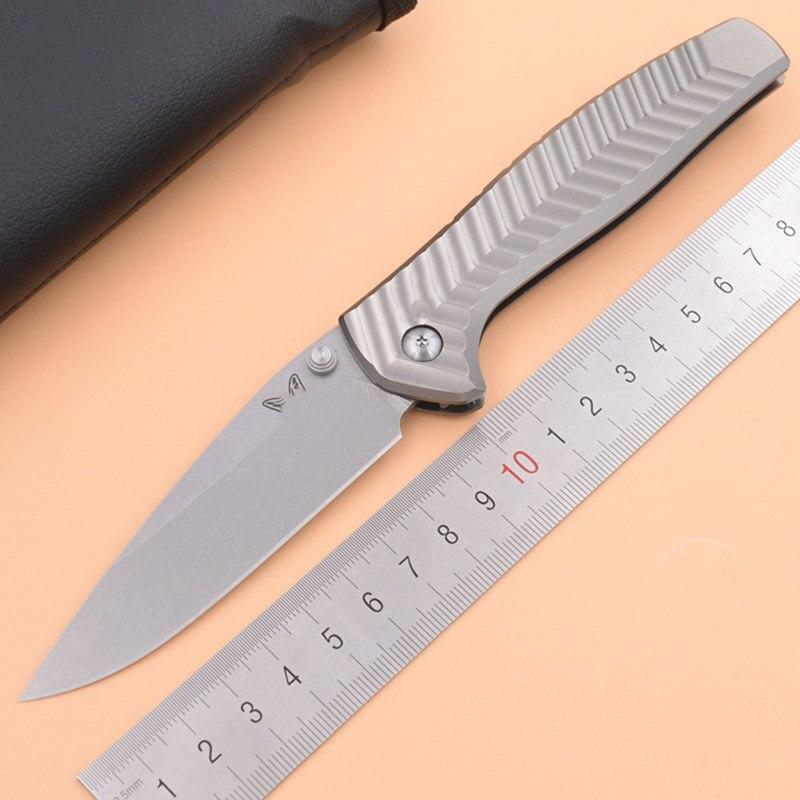 JUFULE 2019 Made 781 20CV Steel Aluminum Handle Ball Bearing Camping Pocket Survival Hunting Kitchen Knives EDC Tool Knife
