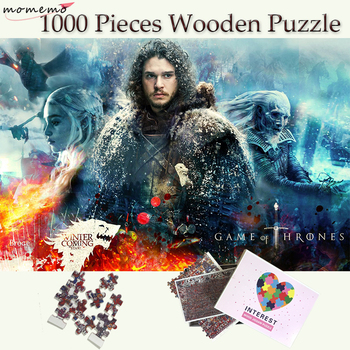 momemo game of thrones wooden puzzles 1000 pieces white walkers and dragon adults 1000 pieces jigsaw puzzle teenagers kids toys MOMEMO Game of Thrones Wooden 1000 Pieces Puzzle Customized Jigsaw Puzzles John Snow Puzzles for Adults Teenagers Kids Toys Gift
