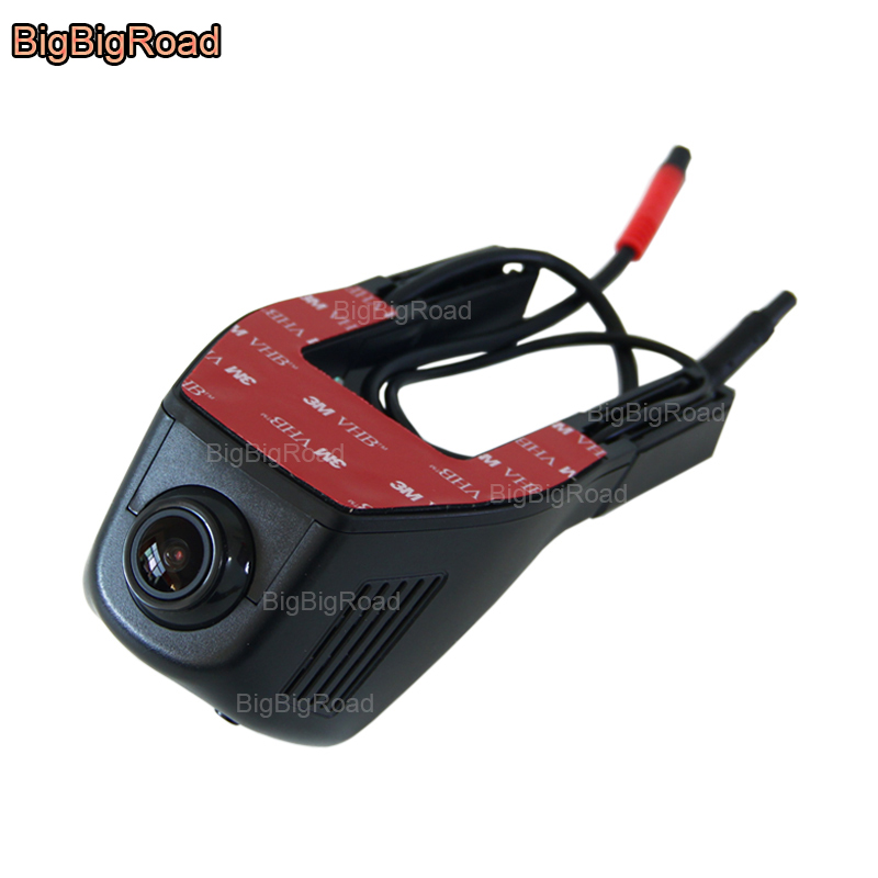 BigBigRoad For KIA Sorento Soul Sportage shuma Cerato 2 vq Borrego Forte Car Wifi DVR Video Recorder Dual lens Car Black Box