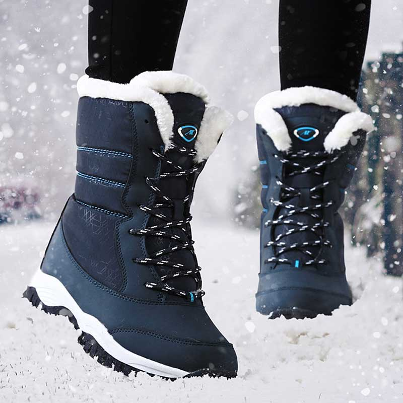 Botas Apoyo Rojo Nieve Mujeres Las Invierno white Felpa blue Plataforma Interior Tobillo Mujer De black Negro Blanco Red Cuñas Zapatos zw5YqdYZx