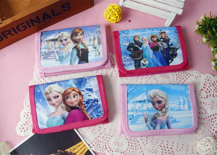 Disney gefrorene kinder cartoon kurze nette brieftaschen spielzeug handtaschen grundschule geschenk münze geldbörsen prinzessin jungen auto hand taschen