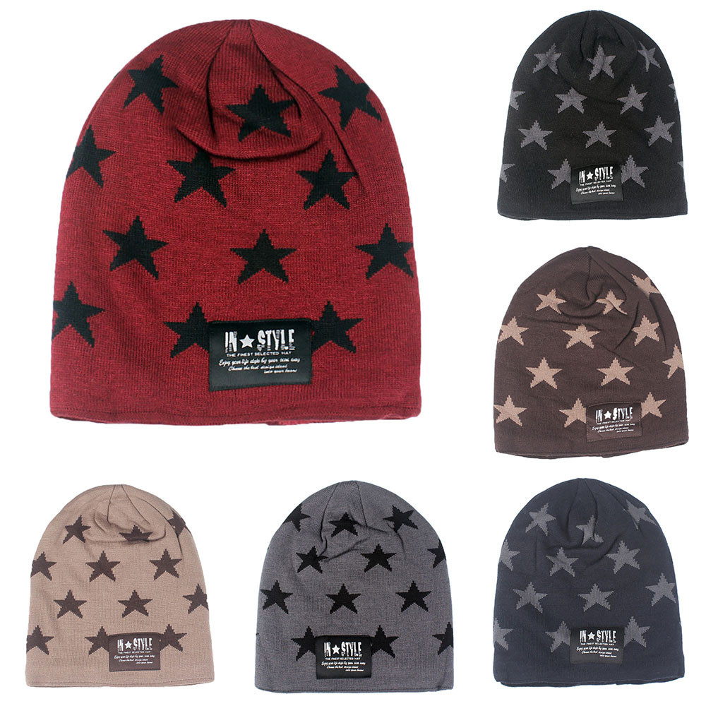 desire 35# DROPSHIP New Arrival Fashion Adult Women Men Hat  Ladies Print Knitted Winter Oversized Slouch Beanie Hat Cap