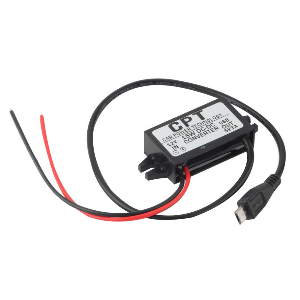 1pc High Quality Car Charger DC Converter Module 12V To 5V 3A 15W with Micro USB Cable Newest Automobiles hot selling