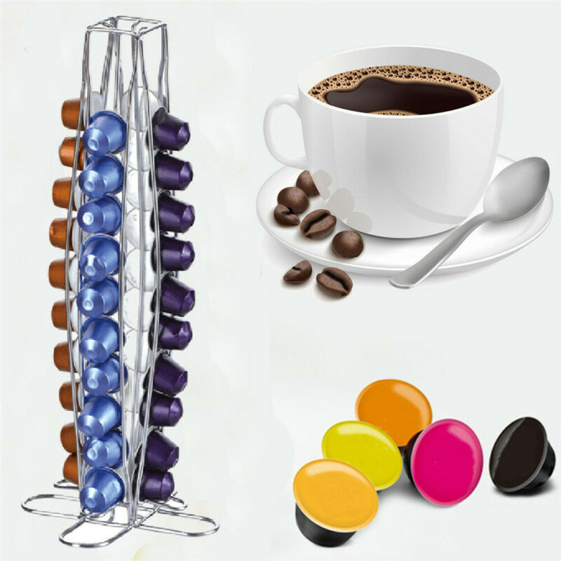 24/36/40/42Pcs Capsule Coffee Pod Holder Tower Stand Rack For Dolce Gusto