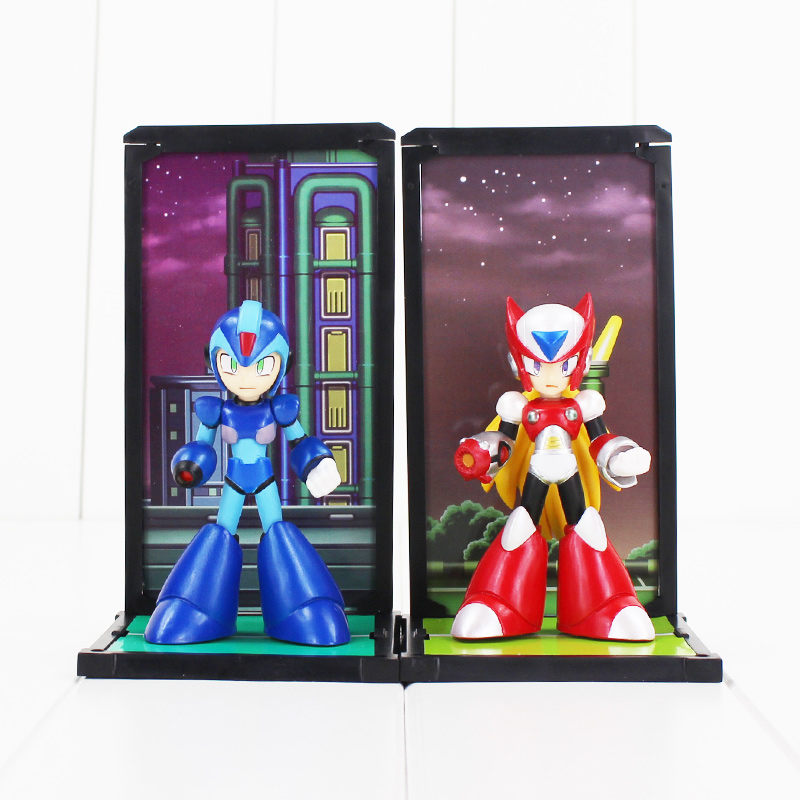 10cm 2pcsset Tamashii Nations Buddies Mega Man Rockman Zero PVC Figures Collectible Model Toys