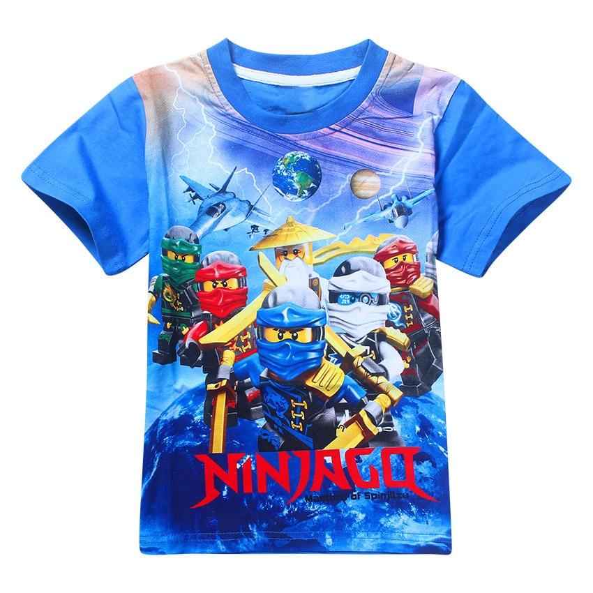 Hot 2017 boys clothing summer kids t shirt ninja ninjago for Toddler t shirt printing
