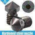 Mellow Высокое Качество закаленная сталь V6 насадки для печати PEI PEEK или углеродное волокно нити для E3D HOTEND titan экструдер J-Head