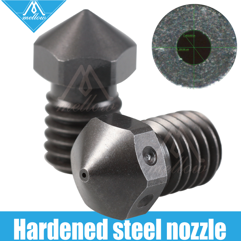Mellow Top Quality Hardened Steel V6 Nozzles For Printing PEI PEEK Or Carbon Fiber Filament For E3D HOTEND Titan Extruder J-Head