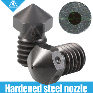 Mellow Top quality Hardened Steel V6 Nozzles for printing PEI PEEK or Carbon fiber filament for E3D HOTEND titan extruder J Head|3D Printer Parts & Accessories| |  -