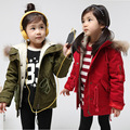 Free shipping Winter new girls more leisure quilted hooded cotton-padded clothes coat