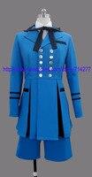 משלוח חינם זול כחול ciel cosplay תלבושות מהמשרת השחור kuroshitsuji השני אנימה בגדי ליל כל הקדושים