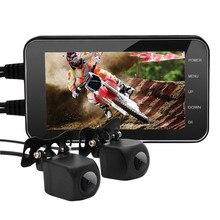 4-inch HD 1080 p Moto Macchina Fotografica DVR Motore Dash Recorder Dual Lens WIFI Impermeabile Moto Anteriore Posteriore Registratore