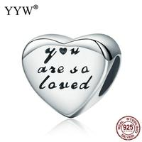 Luxury Jewelry 100 Authentic 925 Sterling Silver Charm Heart Bead For Valentines Gift With Troll 10x10x7mm