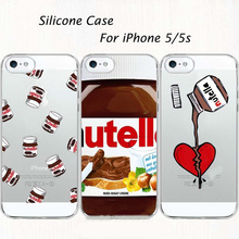Ownest nutella case para iphone 5 5s se 6 6 tumblr s suave Silicone tpu Transparente com design Do Telefone Capa Fundas Coque