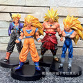 NEW HOT 13-16cm 4pcs/set dragonball dragon ball Vegeta Trunks Super Saiyan Broli Son Goku Kakarotto Model Toy action figures