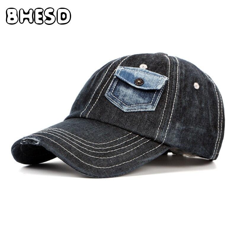 Prix pour BHESD 2017 Nouveau style Rétro denim casquette de baseball Hommes Femmes papa Cool chapeau de mode d'été casquettes de camionneur Casquettes Gorro Os JY-021