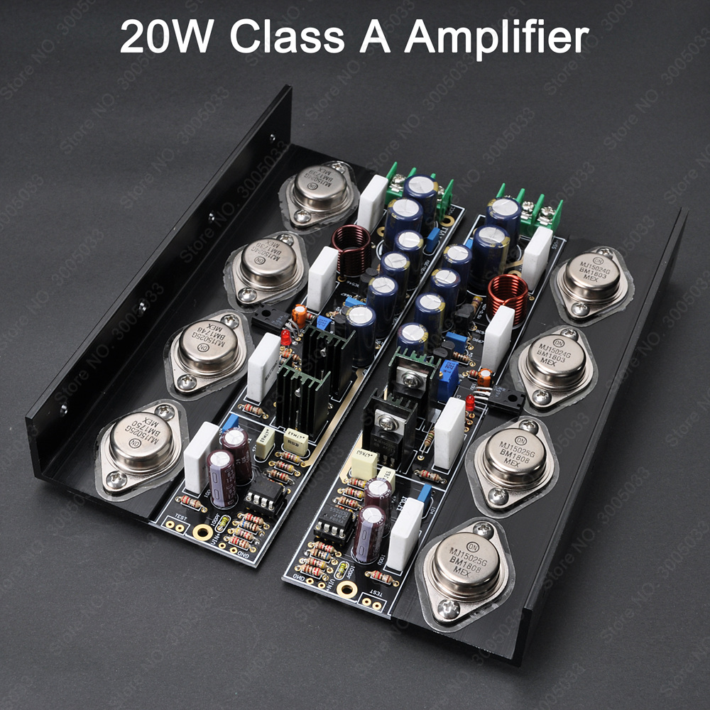 2pcs Pure Class A Mj15024 Mj15025 Audio Amp 20w 40w 80w Non Sub 150w 8ohm Subwoofer Amplifier Circuit Board 35 150hz 2sa1943 Pair Feedback Dc Stereo Amplifierw On