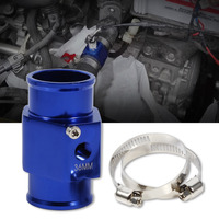 New Blue Aluminium Water Temp Gauge Radiator Temperature Water Joint Pipe Temp Sensor Gauge Radiator Hose