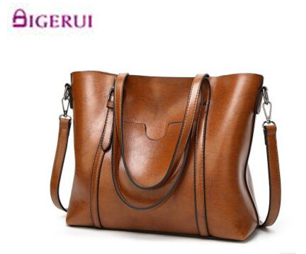 Leather Bags Handbags Women'S Famous Brands Bolsa Feminina Big Casual Women Bag Female Tote Shoulder Bag Ladies Large  A54 brand designer large capacity ladies brown black beige casual tote shoulder bag handbags for women lady female bolsa feminina page 3