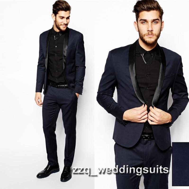 2017 new Wedding Tuxedo James Bond Wedding Suits for men Formal ...
