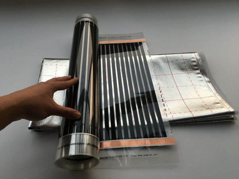 Grandes Ventes! gratuite Livraison 50 cm * 2 m (1m2) Infrarouge Lointain Chauffage Par Le Sol Films + 1m2 Réflexion Film + pince 2 Pcs + Isolation Torchis 4 p
