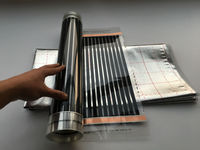 Big Sales Shipping Free 50cm 2m 1m2 Far Infrared Floor Heating Films 1m2 Reflection Film Clamp